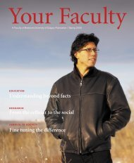 Your Faculty / Spring 2005 - Faculty of Medicine - University of Calgary