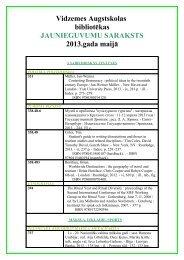 Vidzemes augstskolas jaunieguvumu saraksts 2008