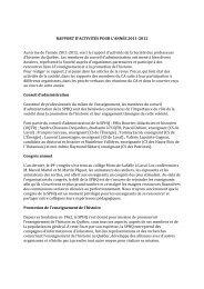 rapport d'activités 2011-12 - Société des professeurs d'histoire du ...