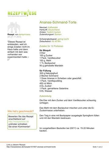 Ananas-Schmand-Torte - Rezeptwiese