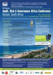 Audit, Risk & Governance Africa Conference Durban ... - MIS Training