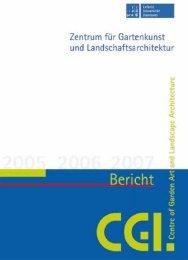 Tätigkeitsbericht 2005-2007 - des Zentrums für Gartenkunst und ...