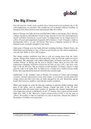 The Big Freeze - Global