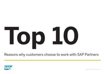 The Top Ten Reasons Why Customers Choose to Work With SAP ...