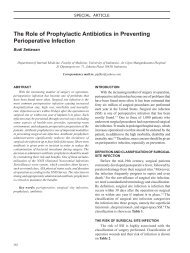 The Role of Prophylactic Antibiotics in Preventing - InaActaMedica.org