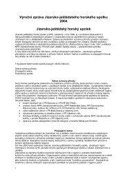 Výroční zpráva 2004 - Jizersko-ještědský horský spolek