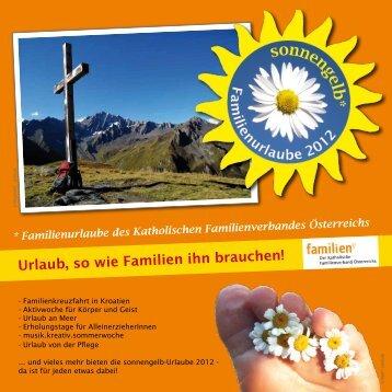 Urlaubsfolder sonnengelb 2012 - Familienverband - Katholischer ...