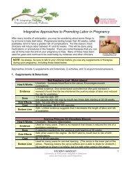Promoting Labor in Pregnancy - UW Family Medicine - University of ...