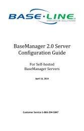 BaseManager 2.0 Server Configuration Guide - Baseline Systems