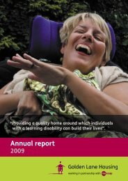 Annual Report 2009 - Golden Lane Housing