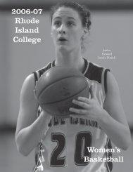 2006-07 Rhode Island College Women's Basketball