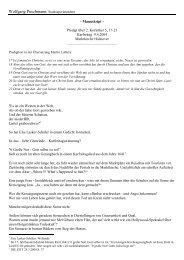 Predigt von Stadtsuperintendent Wolfgang Puschmann zum ...