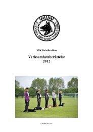 Verksamhetsberättels - Svenska Brukshundklubben