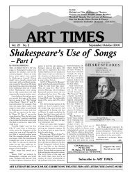 Shakespeare's Use of Songs - Art Times