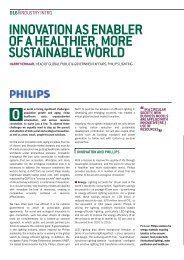 RIO20 Innovation as enabler of a healthier, more ... - Philips Lighting