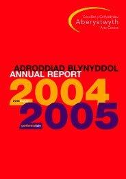 Adroddiad blynyddol 2004-2005 Annual Reportpdf 544K