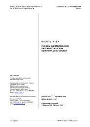 richtlinien für den elektronischen datenaustausch im ... - SBBK