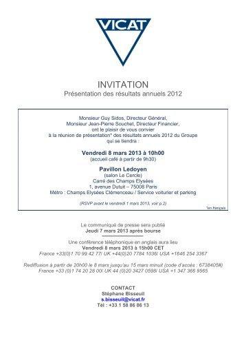INVITATION - Vicat