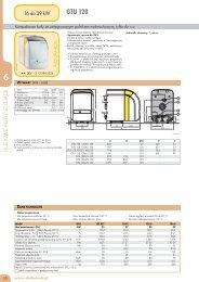 Dane techniczne GTU 120 - De Dietrich