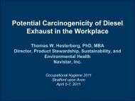 Potential Carcinogenicity of Diesel Exhaust in the Workplace - BOHS