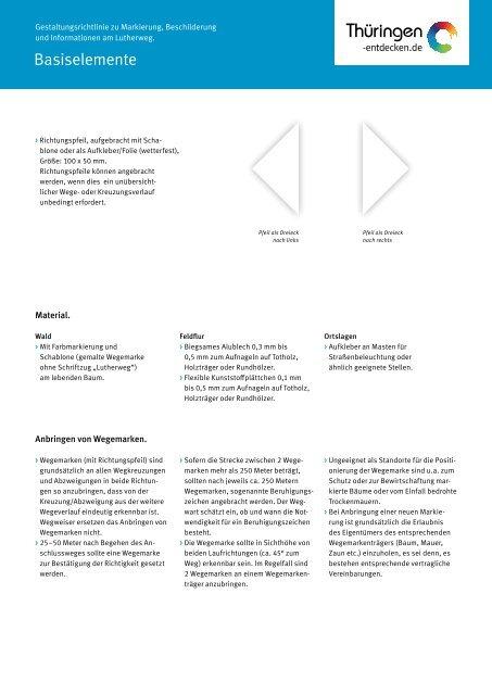 Gestaltungsrichtlinie zu Markierung, Beschilderung und ... - Werratal
