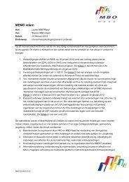 MEMO intern - MBO Raad 15 feb 2012 ... Vsv/entreeopleidingen ...
