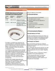 D7050 Detectores de Fumaça Fotoelétricos ... - Alarmes Tucano