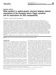 Wide variation in spatial genetic structure between natural ... - CREAF