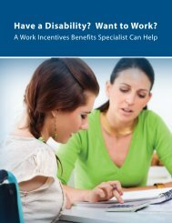 Work Incentives Benefits Specialists - Paths to Employment ...