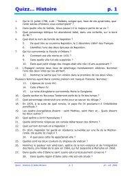 Quizz… Histoire p. 1 - Pass Education