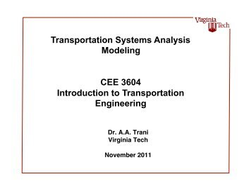 Transportation Planning - Air Transportation Systems Laboratory