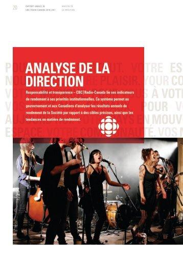 Analyse de la direction [PDF] - CBC/Radio-Canada