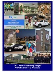 2013 Annual Operating Budget City of Little Rock, Arkansas