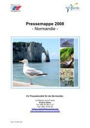 Pressemappe 2008 - Normandie - - Maison de la France