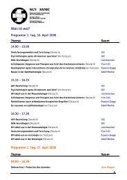 Lageplan und Programmübersicht