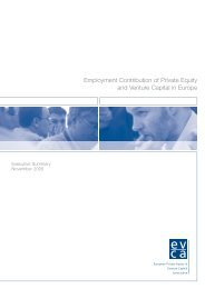 EVCA - Employment Contribution of Private Equity and Venture ...
