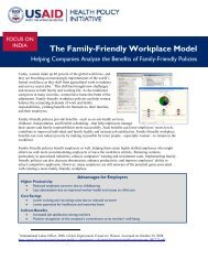 The Family-Friendly Workplace Model - Health Policy Initiative