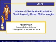 Volume of Distribution Prediction: Physiologically Based ...