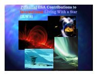 Potential ESA Contributions to ILWS - International Living With a ...