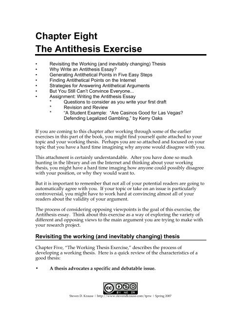 exercise thesis