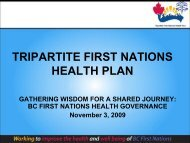bc tripartite first nations health plan - First Nations Health Council