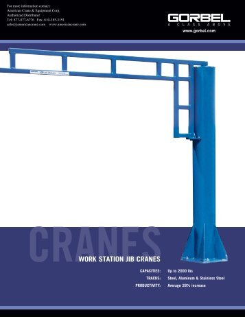 GorbelWorkStationJibCrane - Products On American Crane ...