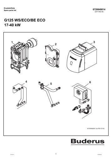 G125 WS/ECO/BE ECO 17-40 kW - Buderus