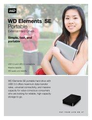 WD Elements™ SE Portable External Hard Drives ... - Icecat.biz