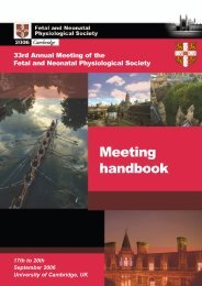 Meeting handbook - Fetal and Neonatal Physiological Society
