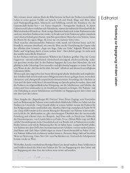 Editorial und Inhaltsverzeichnis