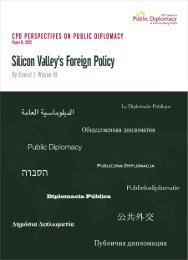 Silicon Valley Foreign Policy - USC Center on Public Diplomacy