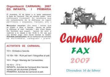 Pots veure el fullet de Carnaval amb les ordres del Carnestoltes