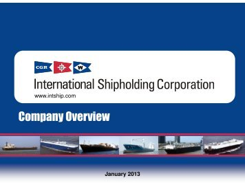 Company Overview - International Shipholding Corp.