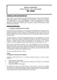 BASES DE LA PROMOCIN - El País